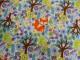 Vävd bomull - Skog & rävar - Välj bottenfärg Ökotex - Ljusblå