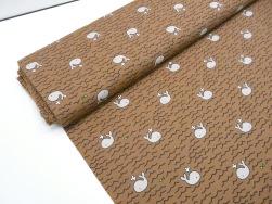 Bomullstrikå - Valar mellanbrun Ökotex