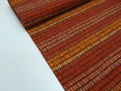 Bomullstrikå - Square N' Stripes Terracotta/orange Ökotex