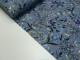 Bomullstrikå - Blommor dov lavendellila Ökotex