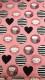 Bomullstrikå - Tecknade katter och hjärtan Välj färg Ökotex - Rosa katt