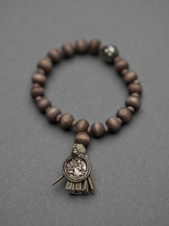 Ajlajk armband med mynt - Brun