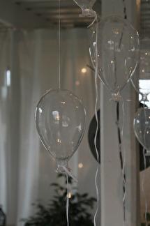 Glasballong stor -