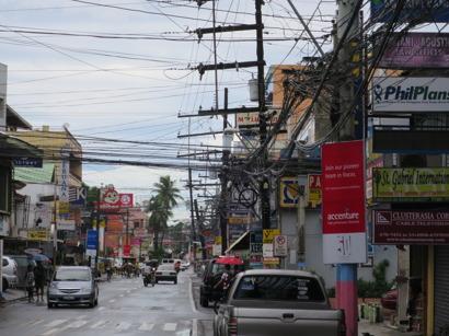 Gatubild från Tuguegarao, Cagayans provinshuvudstad.