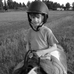 Tjorven och ung ryttare