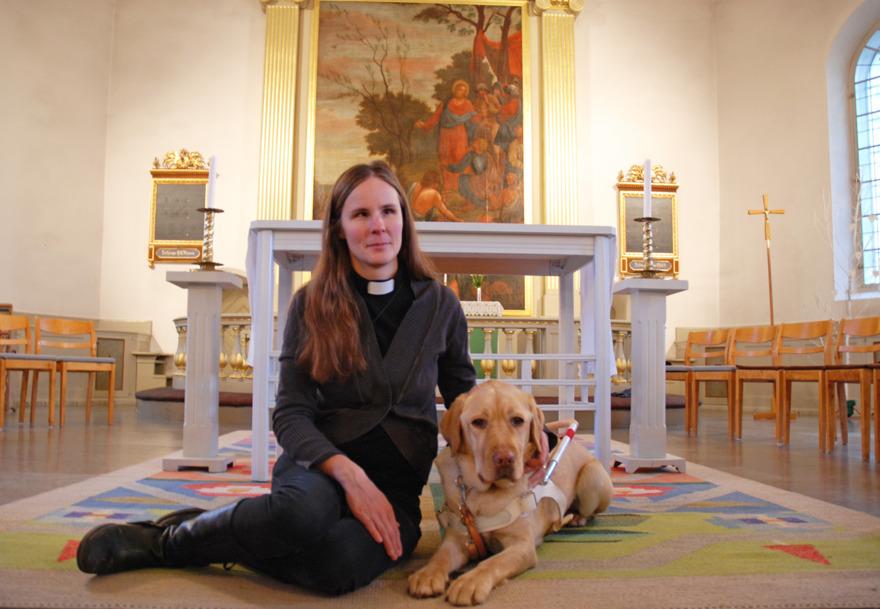 Ledarhunden Sigge arbetar numera i kyrkans tjänst.