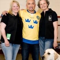 Jenny, Cesar och Anette. Och Malte!