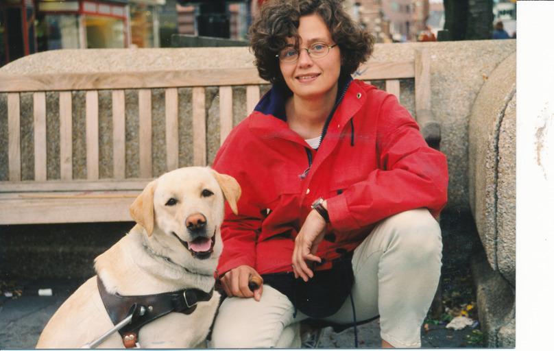 1996: Min första ledarhund Selma.