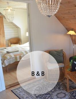 Bo på Bed & Breakfast på Hotell & SPA Lögnäs Gård utanför Laholm i södra Halland
