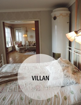 Logi i självhushåll VILLAN på Hotell & SPA Lögnäs Gård utanför Laholm i södra Halland