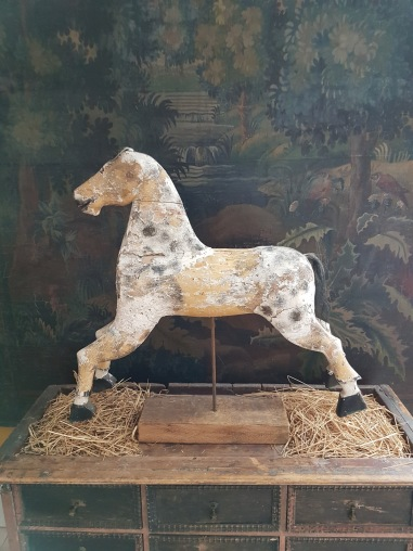 "Wooden horse.  More pictures on next page ""Bilder/Pictures""!"