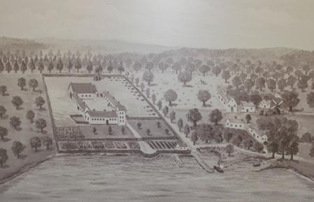 Bosjökloster under medeltiden enligt en teckning av Rosenberg
