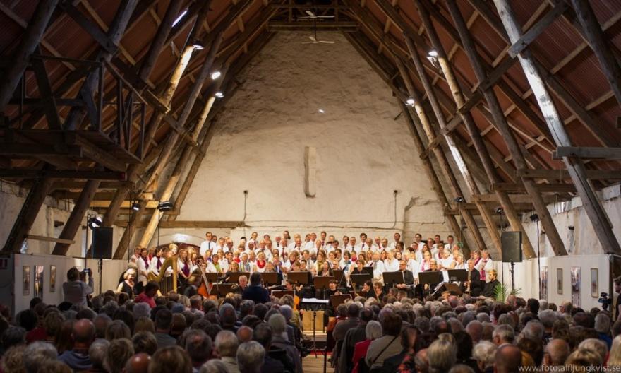Musik på Bosjökloster. Foto: Alf Ljungkvist