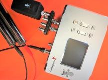 Spooky X med dubbla generatorer för två paralella behandlingar. Med handtag och distansenhet.