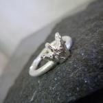 Borstad smal ring med kungakrona Artnr: pris vid beställning maila kontakt@rolisilverdesign.se