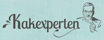 Kakexperten logga på LJUSAD Turkosbakgrund