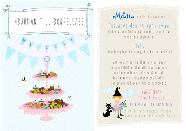 Utforming och illustration av inbjudan av bokrelease