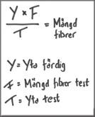 Formula för att beräkna mängd material.