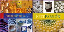 Omslagen på de två tidigare böcker om filtnig som Textile Art gett ut.