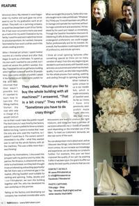 Artikel som jag skrivit om Filtmakeriet till tidningen Felt Matters för att uppmärksamma svensk ull och deras verksamhet.
