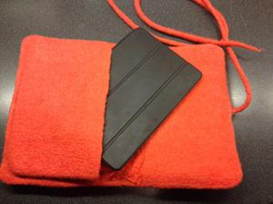 Mitt iPadfodral som jag gjorde i början på året och sedan varit med mig varje dag och skyddat paddan från stötar. En av de bästa sakerna jag gjorde under 2015!