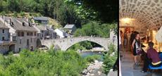 Bron i Pont de Montvert och lokalen där jag för första gången lärde mig filta.