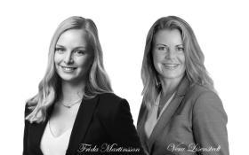 Frida Martinsson (reg. fastighetsmäklare), Vera Lisenstedt (VD samt reg. fastighetsmäklare samt Nadja Malekshahi (vår eminenta mäklarassistent och stylist).