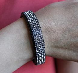 Armband glitter - Glitter brons