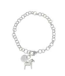 Dalahäst armband - Dalahästarmband silver