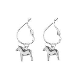 Dalahäst hängande örhängen - Dalahäst silver hängande örhängen   silver silver