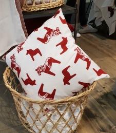 Kuddfodral dalahäst - Kuddfodral röd