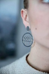 Dalaline big örhänge silver -