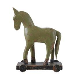 Troja häst på hjul -