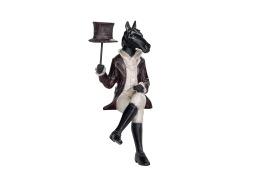 Staty häst sittande kavaj -