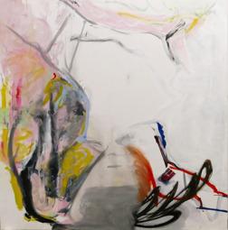 GLÄNTAN, VARSEL, GRENEN OCH LJUSET. olja på duk. 200 x 200 cm