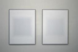 Pale Screen I och II. 100 x 120 cm. olja på stål