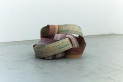 """Ur serien """"Spill"""", 2016, bandslippapper, diameter 80 cm"""