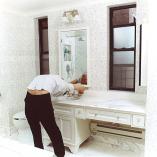 spineless-bathroom, C-print 36x36 cm