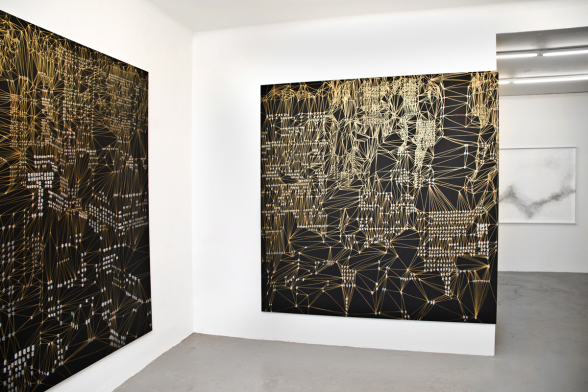 "Eva Beierheimer. Installationsbild: ""Spatial Convolutions"". 2017. Foto: Eva Beierheimer."