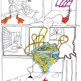 Monica Höll 00019 Everything is possible room- drawing 2006 m