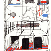 Monica Höll 00027 The cupboard room- drawing 2007 m