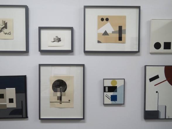 """Urval ur serien """"Konstnär okänd"""" i galleriets showroom januari - februari 2018. Foto: J Watteus"""