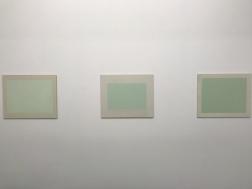Stillestånd/De gröna målningarna. Utställningen Winter Studio, Galleri Fagerstedt, jan - feb 2018