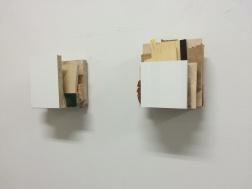 Spill. Diptyk. 2014. varierande trämaterial. 2 x 17x14x10 cm