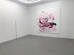 Monica Höll. Olja på duk. 200 x 200 cm. Ur utställningen Winter Studio.