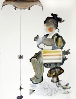 Lisbeth. 2007. akvarell på papper. glas och ram. 72x90 cm