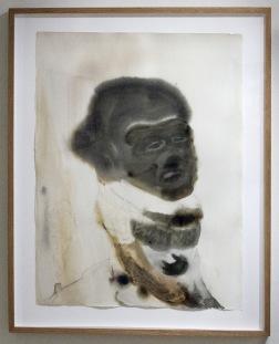 Forget me not. 2011. akvarell på papper. glas och ram. 72x90 cm.