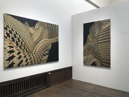 Eva Beierheimer. Quaestio IV, 2018, acrylic on canvas, 202x145 cm. Quaestio V, 2018, acrylic on canvas, 175x110 cm