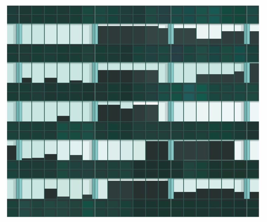 Lever House  / Skidmore, Owings, Merrill, Bunshaft. 55x43 cm, ed 15.