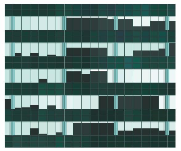 Claesson Koivisto Rune: Lever House / Skidmore, Owings, Merrill, Bunshaft. 2016-2017. Arcival print. 55x43 cm. Ed 15.